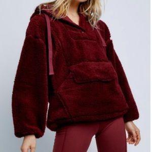 NEW Free People Run My Way Fleece Jacket Size S